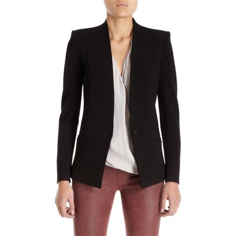 black knit blazer helmut gala knit blazer in black lyst