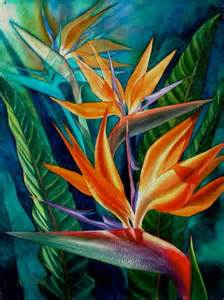 Painting A Mural On A Wall With Acrylic Paint transparent watercolor bird of paradise workshop