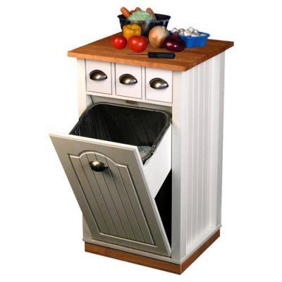 kitchen island trash bin cheap venture horizon holden kitchen island with hidden