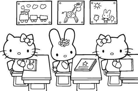 coloring pictures of hello kitty and her friends 20 free printable hello kitty coloring pages printable