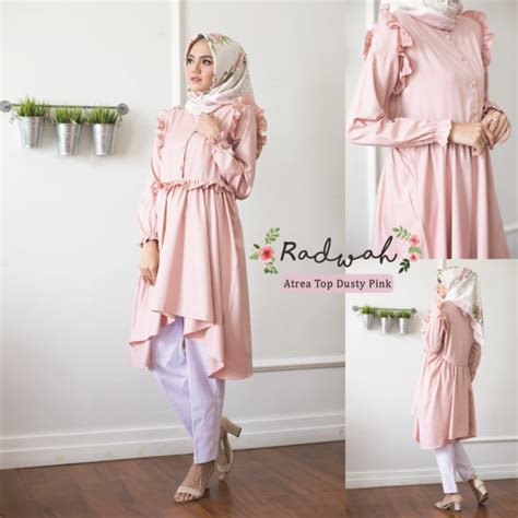 Hnc Keana Top 01 Baju Busui radwah atrea top pink mocca 275 000 softaya pusat baju muslimah bermerk model