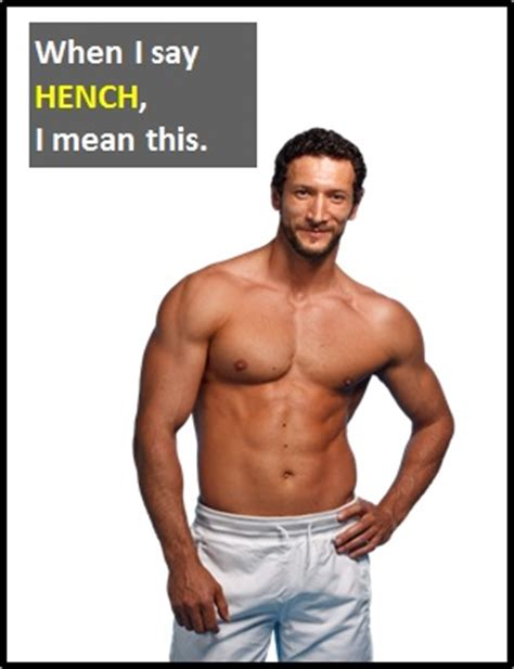 hench bench hench what does hench mean