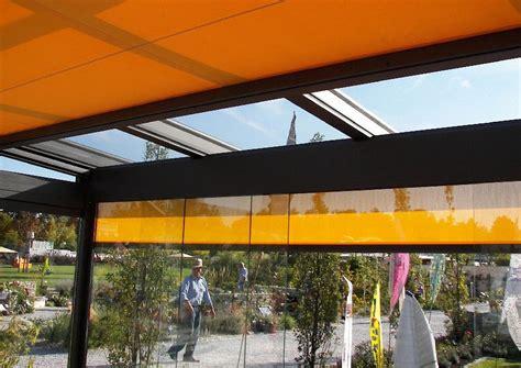 beschattung terrassendach verglastes terrassendach mit beschattung rollmarkisen