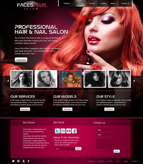 hairstyle design website hair salon website design by yuval10203 on deviantart