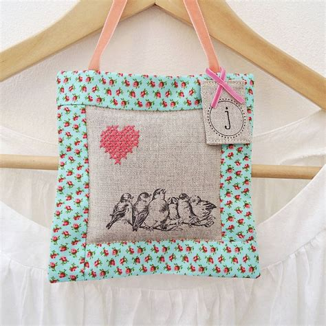 How To Make Handmade Bags - handmade hanging lavender bag by sew sweet violet