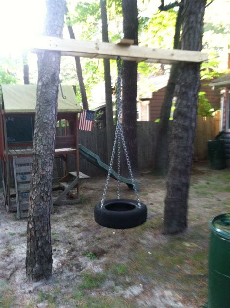 build a tire swing how to build a tire swing between two trees woodworking