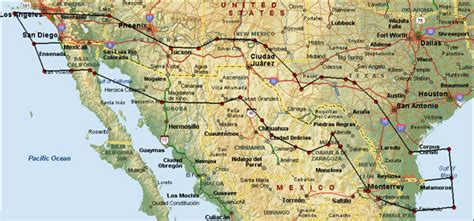map us states bordering mexico map mexico usa border