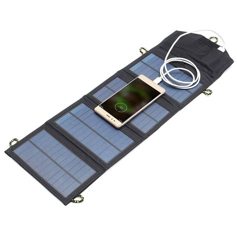 Foldable Solar Power Bank 2 Usb Port With 3 Solar Panel Omwb0hbk ipree 5v 7w portable solar panel outdoor travel emergency