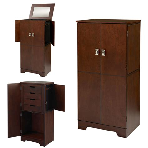 makeup armoire vanity linon jewelry armoires and vanity sets