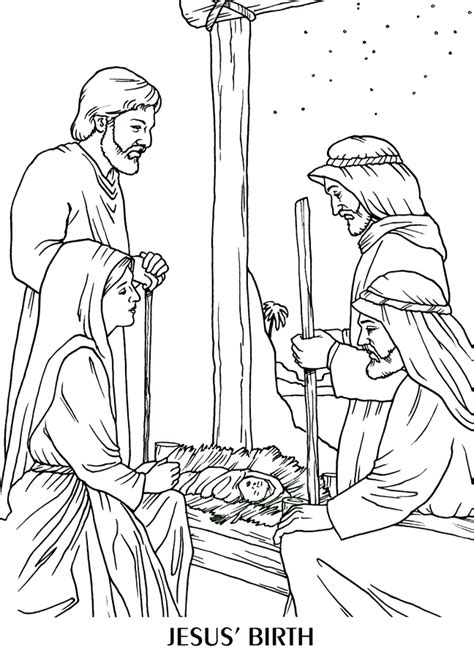 jesus is born nativity coloring page the birth of jesus coloring page