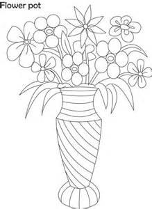 Flowers In Vase Colori sketch template