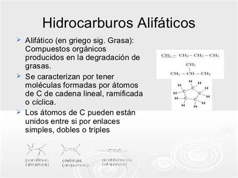 cadenas alifaticas definicion hidrocarburos alcanos alquenos alquinos