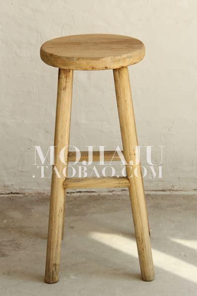 Kursi Kayu Bulat eropa pedesaan elm tua pedesaan kayu bulat bar stool
