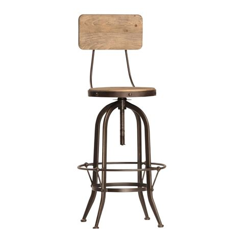 Industrial Bar Stool With Back Industrial Bar Stool With Back Harvest Furniture