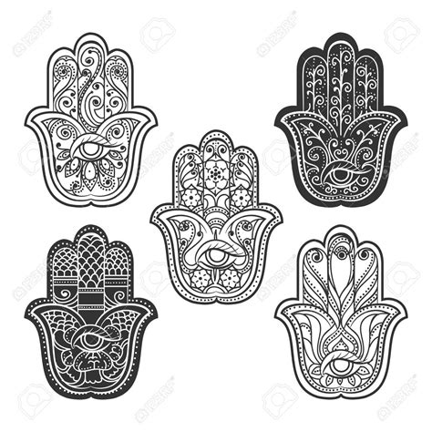 hindu hand tattoo indian hamsa mit auge spiritual ethnischen ornament