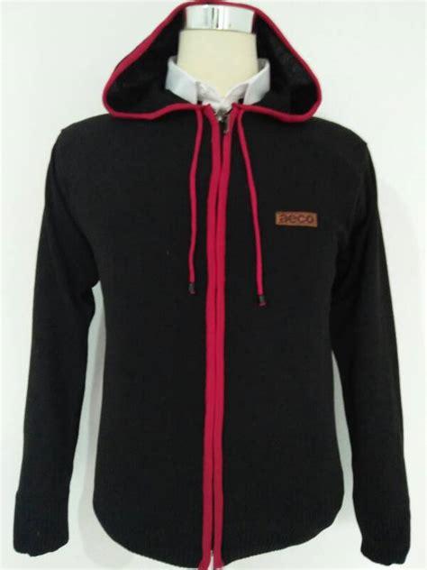 Cardigan Hitam Pria jual jaket rajut ariel hitam knite hoodie cardigan pria