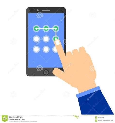 mobile pattern unlock software for pc mobile phone unlocking pattern stock illustration image