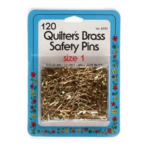 quilter s brass safety pins size 1 by collins w 171 by isewing