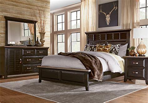 nantucket black 7 pc panel bedroom