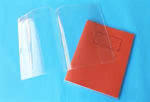 exercise book covers 9x7 clear pack 50 frank berry otter