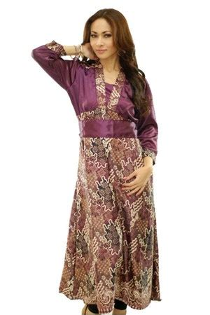Safitri Batik Longdress Busana Muslimah trend baju model dress pesta terbaru 2017 2018