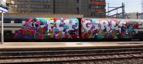 female graffiti train action kcbr  life  girls