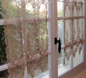 Lace Cafe Curtains Kitchen Lace Kitchen Curtains Mocha Brown Lace Brise Bise Cafe