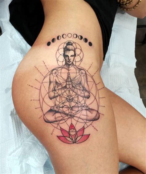 tattoo and hot yoga yoga hip tattoo with lotus flower best tattoo design ideas