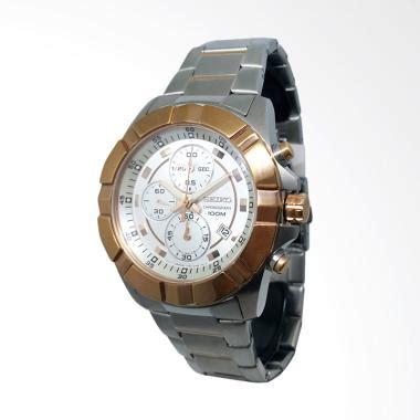 Jam Tangan Pria Seiko Daydate Sk357 Rantai Gold White jual seiko chronograph tali rantai jam tangan pria gold silver 151183 harga