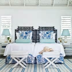 Caribbean blue amp white bedroom editors 50 favorite coastal rooms