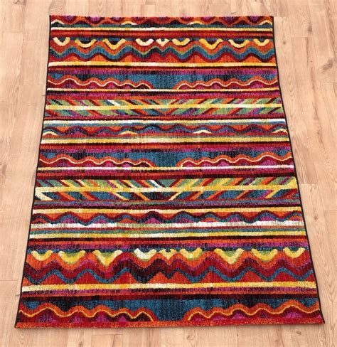 Bright Aztec Rug by Modern Bright Aztec Rugs New Large Quality Vibrant