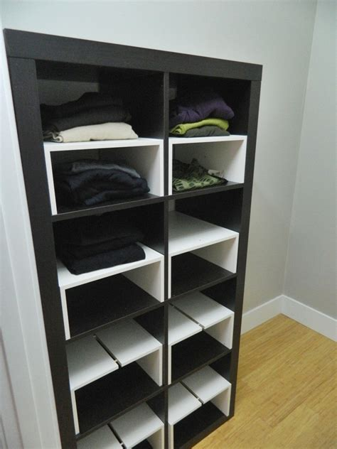 expedit garderobe corner house ikea hack expedit inserts for the closet