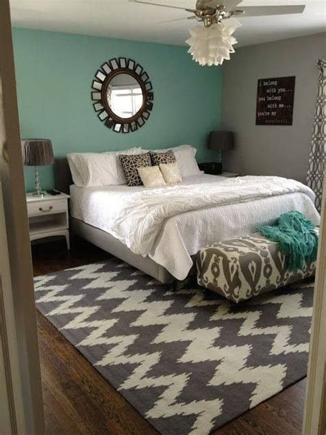 bedroom one accent wall the calming turquoise