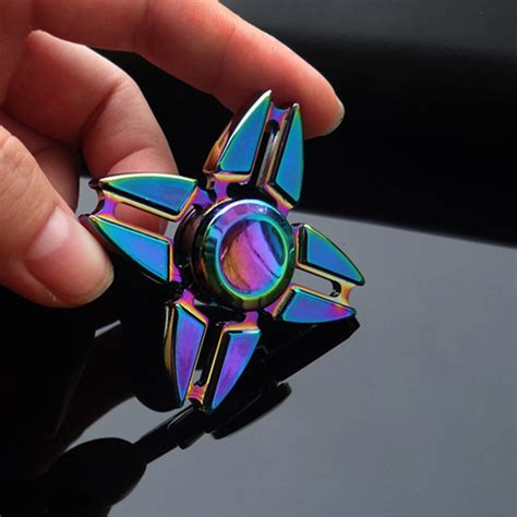 1pc new colorful multicolor high quality metal fidget spinner edc spinner spinning top