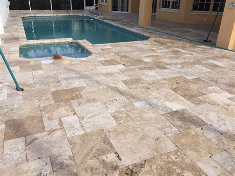 Travertine Patio Pavers Travertine Pavers In S W Florida Tuscan Paving