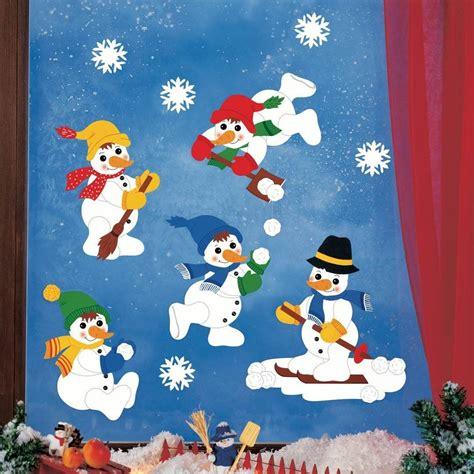 fensterdeko weihnachten für kinder bastelideen fensterbilder zu weihnachten rentierschlitten