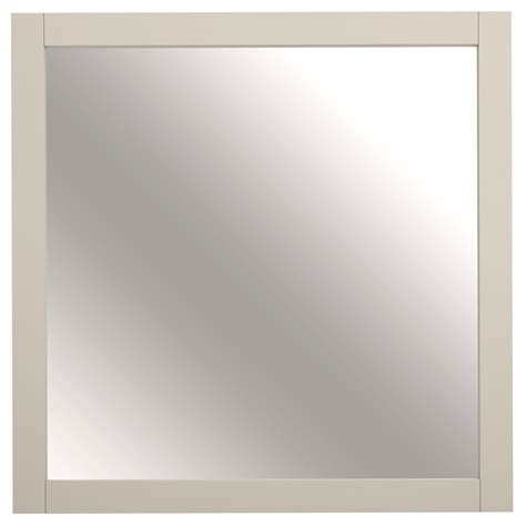 cream bathroom mirror shop allen roth brisette 30 in x 30 in cream square
