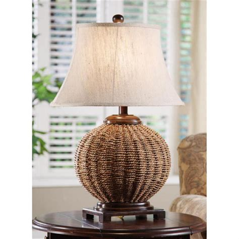 crestview collection wicker table lamp  lighting