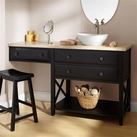 Bathroom Vanities With Makeup Table Shelby