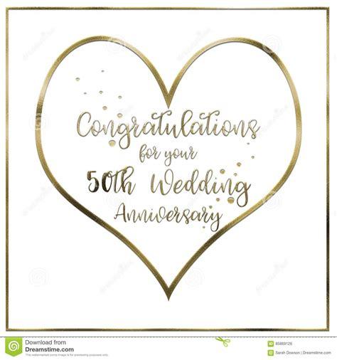 Golden Wedding Anniversary Border by Golden Wedding Anniversary Card Stock Illustration