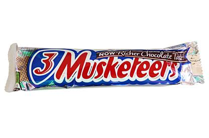 mars 3 musketeers chocolate bar american candy usa import