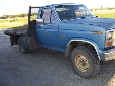 how does a cars engine work 1985 ford ranger transmission control buy used 1985 f250 diesel 6 9 manual transmission 4wd work truck botno in bottineau north
