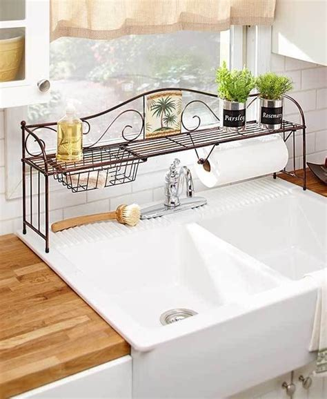 the kitchen sink shelf ideas 1 the sink shelf towel holder tropical palm tree