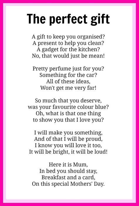 a poem mothers day poems kidspot