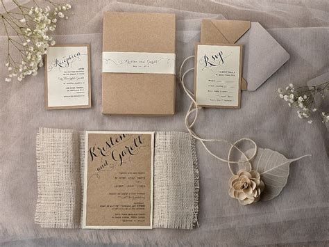 Handmade Wedding Invitations Rustic - rustic chic wedding invitation ideas weddingplusplus