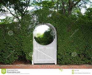 Arbor Bench Plans arched garden arbor and gate stock photo image 43471496