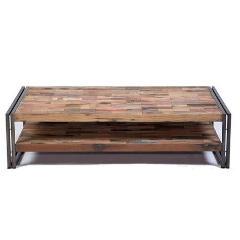 table basse fer et bois pas cher phaichi