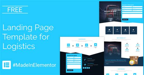 Free Landing Page Elementor Template For Logistics Cakewp Free Elementor Templates