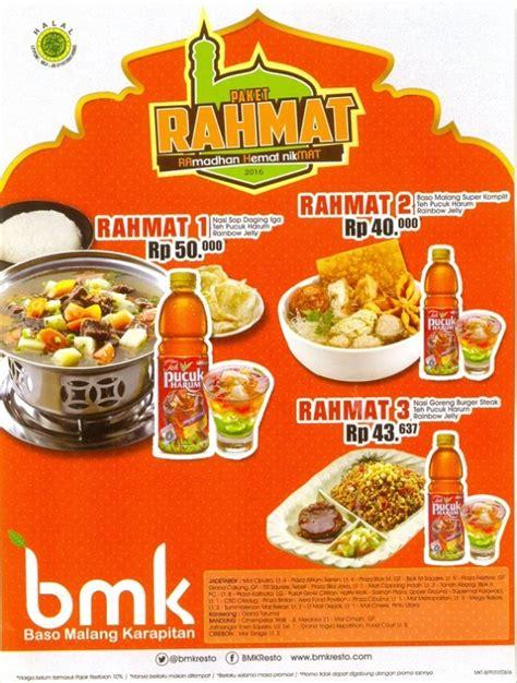 Paket Hemat Rp 50 000 baso malang karapitan promo paket rahmat ramadhan hemat