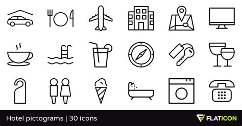 Open Home Plans hotel pictograms 30 free icons svg eps psd png files